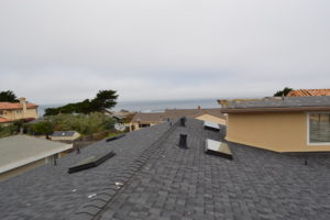 Composite Shingle Skylights and Gutters in Pacific Grove 02