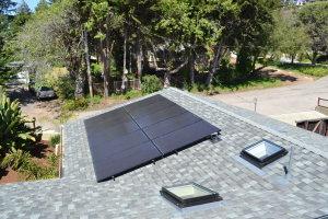 Comp roof gutters skylights solar Aptos 05