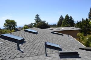 Comp roof gutters skylights solar Aptos 03