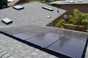 Comp roof gutters skylights solar Aptos 02
