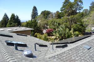 Comp roof gutters skylights solar Aptos 06