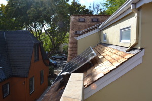 Steam Bent Wood Shingle Roof Install San Jose 04