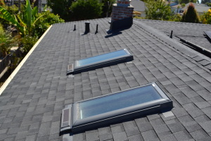 Comp Roof Gutters Skylights and Solar Live Oak 03