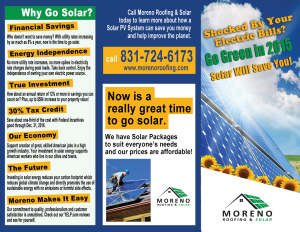 Moreno Roofing Amp Solar Expert Installers In Monterey Bay
